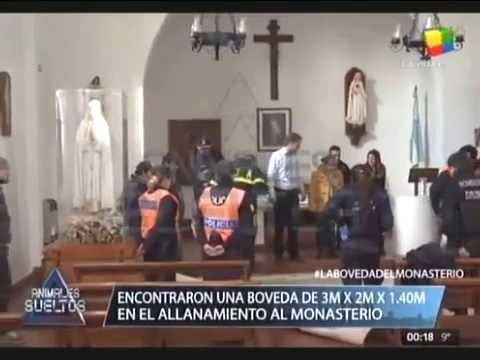 Encontraron una bóveda en la capilla del monasterio donde detuvieron a José López