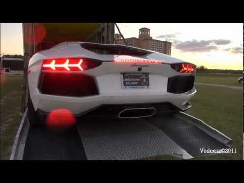 2012 Lamborghini Aventador LP700-4 in Bianco Isis! 1080p!