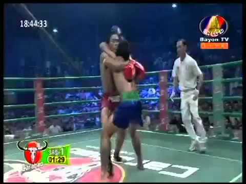 Bayon TV Boxing  Chhoeun Chhaiden Vs Thai  Sep 20,2015