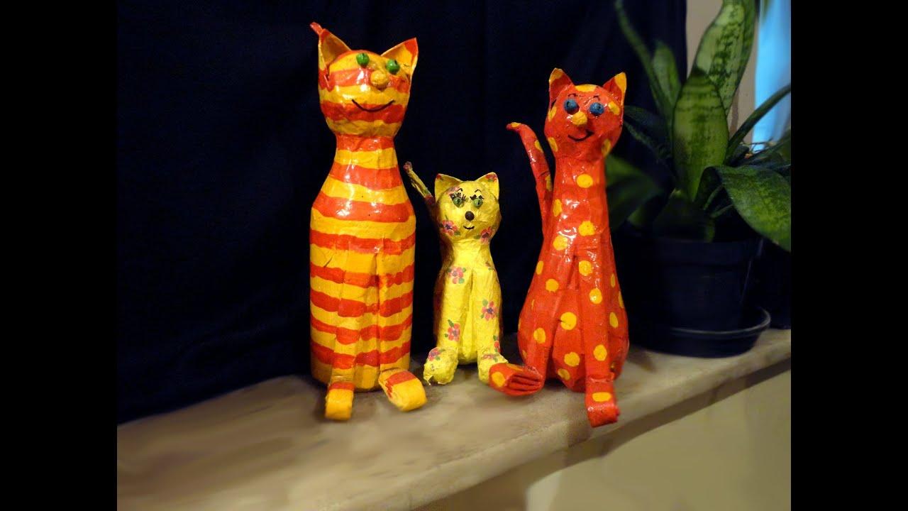 Artesanato: Como fazer um gato de garrafa pet   #C29B09 1885x1427 Banheiro De Gato Como Fazer
