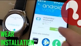 Android Wear First installation, Gesture Tutorial LG Urbane