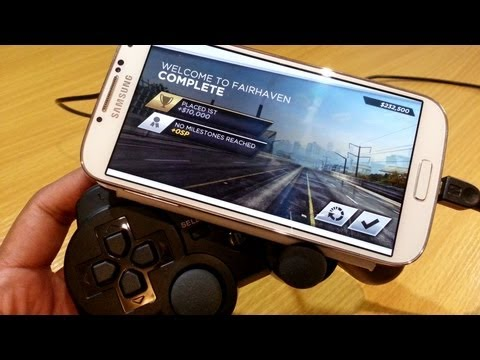 PlayStation 3 Controller with Samsung Galaxy S4