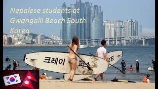 Nepalese Students // South Korea // Busan Gwangolli Beach/ Kyungsung University Students Study Korea