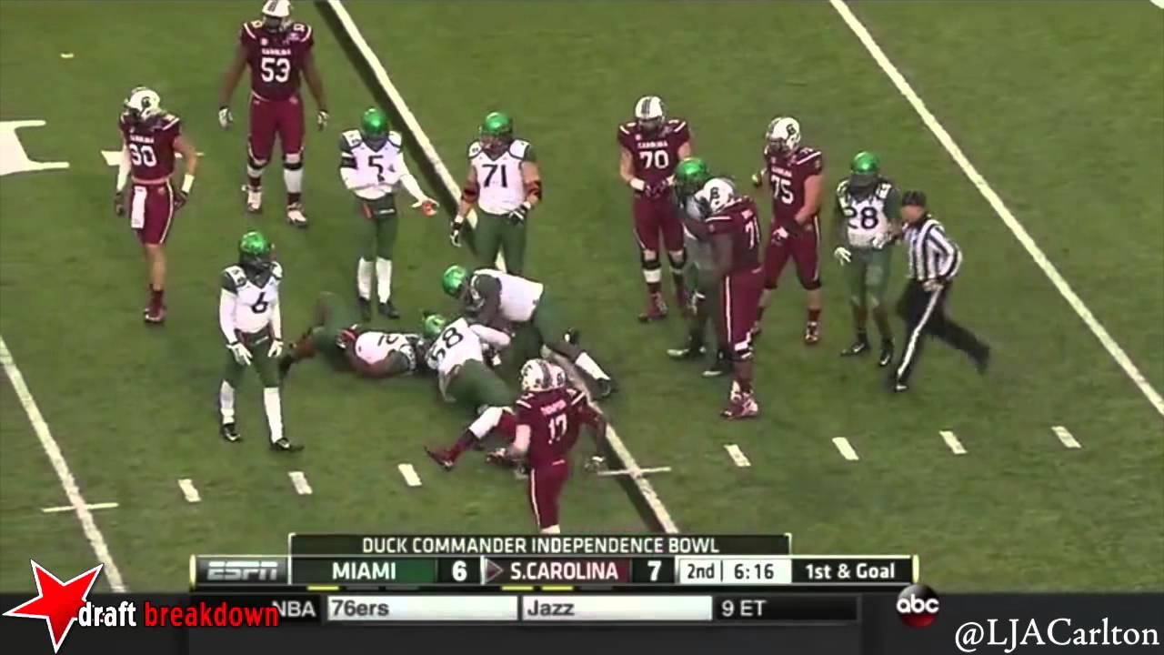 A.J. Cann vs Miami (FL) (2014)