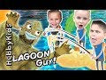 Creepy Lagoon MONSTER Pool Surprises! Adventure Fishing For T...