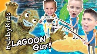 Lagoon Fishing For Surprise Toys with HobbyKidsTV