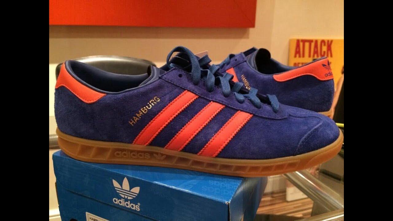 Adidas Samba Blue Orange Adidas Hamburg Blue Orange
