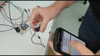 DC Motor and fluorescent lamp controlled by Android app with ESP8266