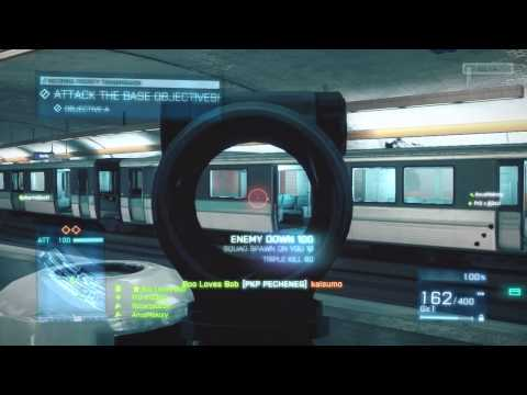 Tearing up the Subway | Flank and Massacre - Battlefield 3 Beta