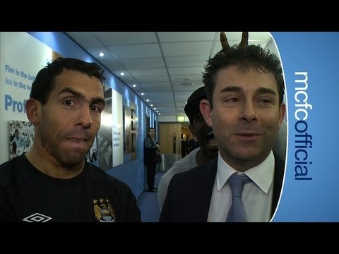 FUNNY! TEVEZ &amp; MICAH Post Match: City 5-0 Barnsley Tevez Reaction FAC6 12-13