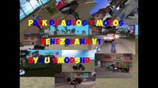 Pack 1 de autos y motos venezolanas para gta vice city