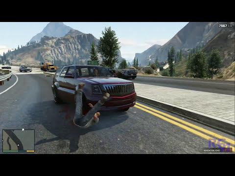 GTA V | Atropellos a cámara lenta | ESPECIAL 1 ATROPELLO POR SEGUNDO