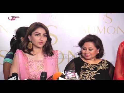 Fashion Alert! B-Town's Gorgeous Beauties Soha Ali Khan And Sonal Chauhal's Festive Look