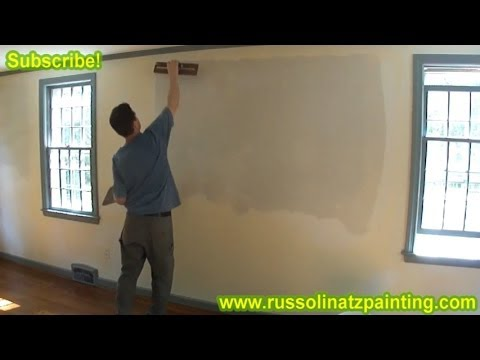 DIY Skim Coating a Wall using Hawk & Trowel. and All purpose Joint Compound