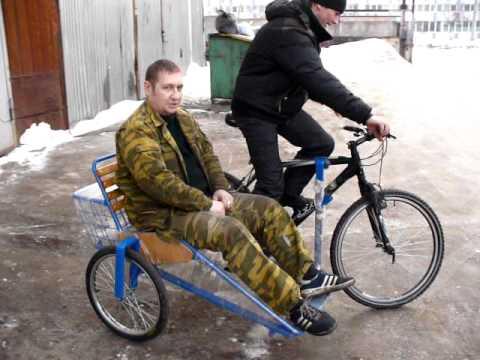 Коляска к велосипеду своими руками фото