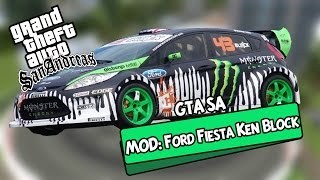 GTA SA MOD: Ford Fiesta KEN BLOCK!!! Carro do Drift!! 3.83 MB