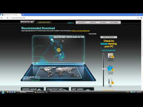 Speed Test of Internet Connection for 2mbps( Globe Telecom)
