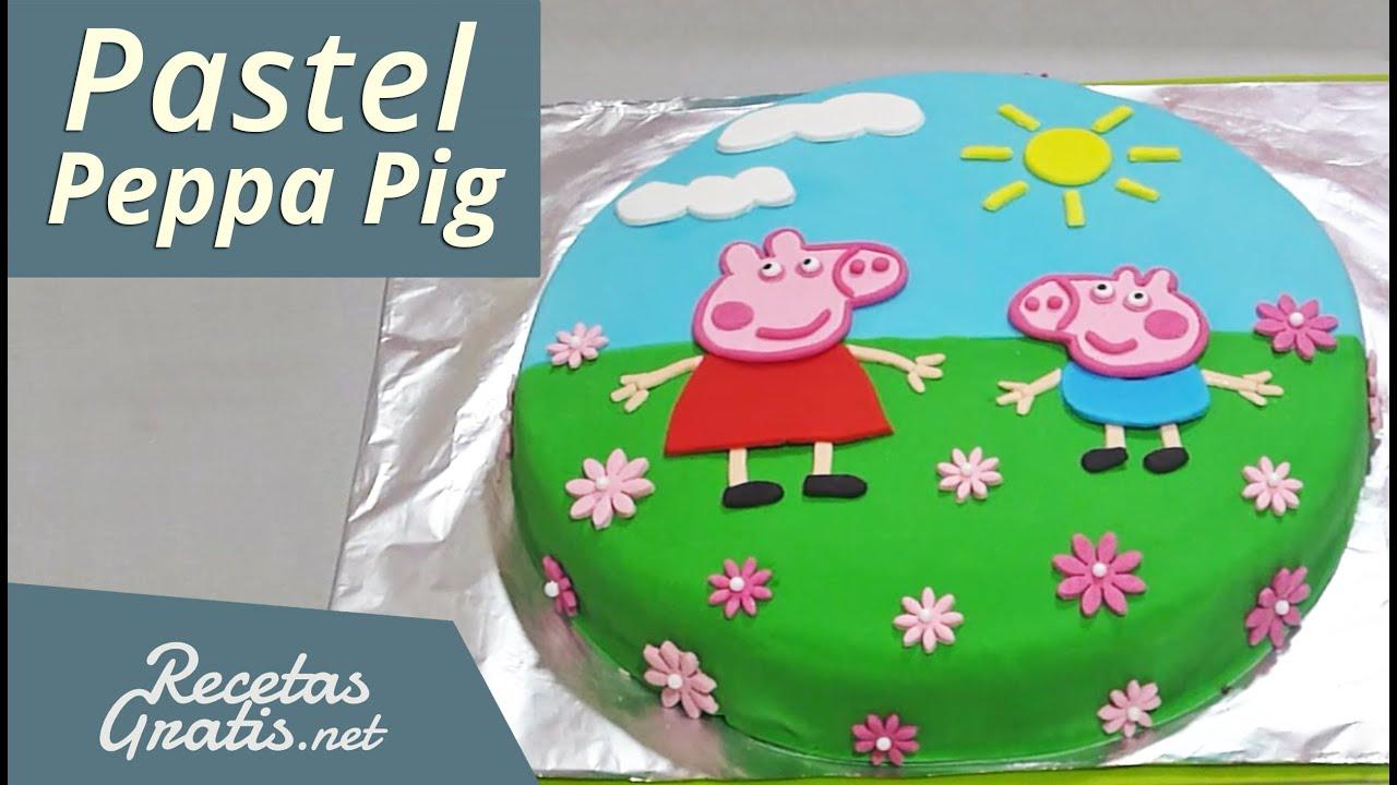 pastel de peppa pig   peppa pig cake   youtube