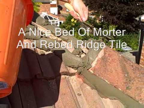 How To Refix Roofing Ridge Tiles Youtube