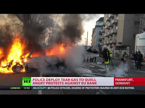 'People over profit': Report from Frankfurt Blockupy protest frontline
