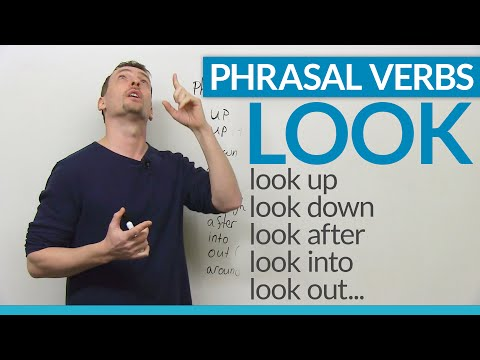 "LOOK at these PHRASAL VERBS with ""look"""