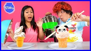 Squishy Vs. Real Food Challenge ! Girls Vs. Boys !