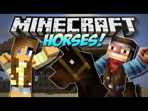 Minecraft   SIMPLY HORSES! (Rideable Horses!)   Mod Showcase [1.4.7]