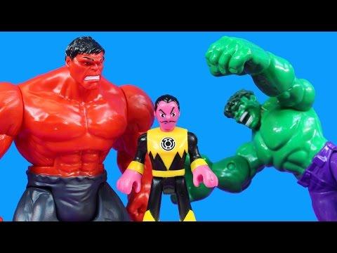 Hulk Smash Brothers Smash Imaginext Sinestro For Taking Green Lantern Robot Riddler Bizarro