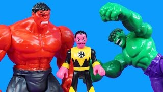 Hulk Smash Brothers Smash Imaginext Sinestro For Taking Green Lantern Robot Riddler Bizarro