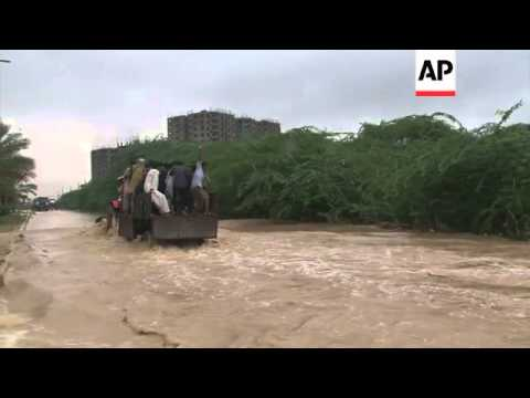 Floods in Karachi after heavy rain