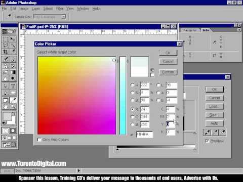 Toronto Digital Training CD's_Photoshop 6.0 Lesson 1