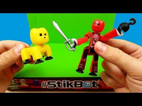 Новая мини студия для съемки мультфильмов! Стикботы пираты и стикботы звери! STIKBOT Stop motion