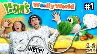 Yoshi ons aanvalt w / garen! Laten we spelen Yoshi's wollige wereld # 1 (Fgteev gameplay fun!)