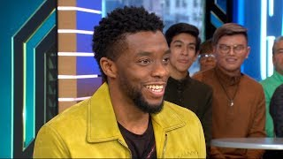 Chadwick Boseman opens up about 'Black Panther' live on 'GMA'