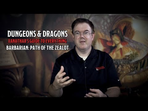 Introducing D&Ds Barbarian: Path of the Zealot in Xanathars Guide To Everything