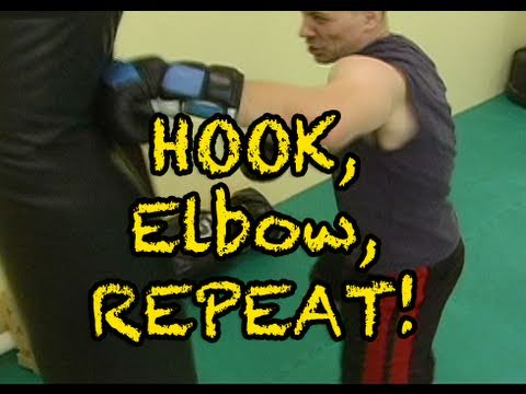 Kickboxing Training - Hook, Elbow Combo Image 1