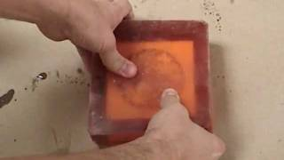 Moldmaking and Casting: resin cast into a polyurethane rubber mold