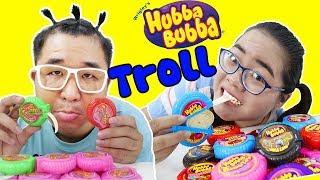 Troll Em Trai Ăn Kẹo Hubba Bubba 5k | Món Quà Tuyệt Vời Của Bố
