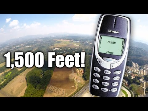 Can Nokia 3310 Survive a 1,500-foot drop from the sky?