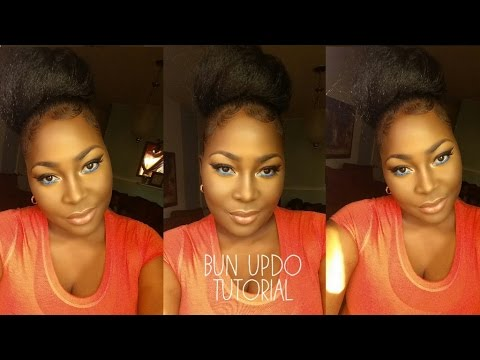 Bun Updo Tutorial- using Harlem 125 100% Kanekalon Jumbo Braid Kanekalon Fiber Hair