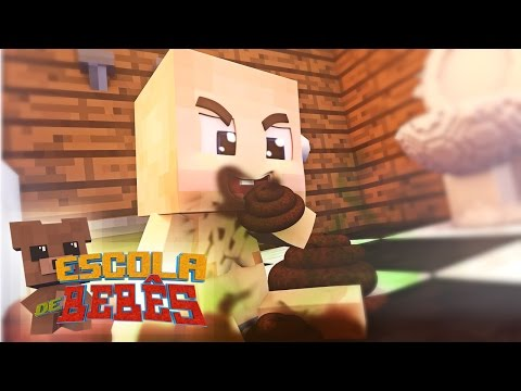 Minecraft : ESCOLA DE BEBÊS ( Baby School Daycare) - GUERRA DE COCO!!
