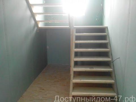 Лестница своими руками за 4500 руб., пошаговая инструкция