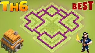 Download Clash of Clans New Town Hall 6 Defense (CoC TH6) BEST Hybrid / Trophy Base Layout 2017 3Gp Mp4