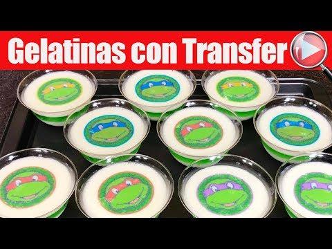 Gelatinas con Transfer Individuales - De Tortugas Ninja - Para los Niños - Recetas en Casayfamiliatv