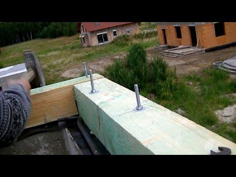 Budowa domu krok po kroku. Dzień 52.  Więźba. Murłaty. Kurs DVD link pod filmem