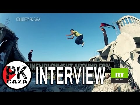 After Banksy - Gaza Parkour Team Interview with ( RT France ) 2015