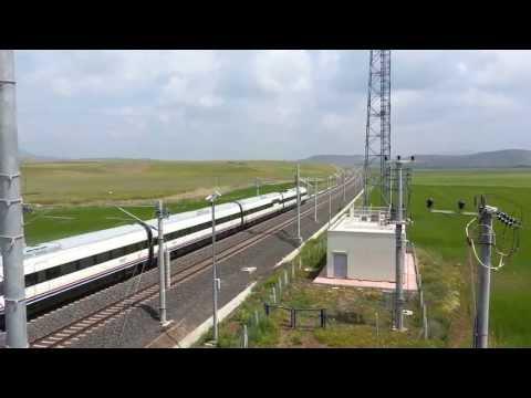 Yüksek Hızlı Tren ( YHT ) Yüksek Hızda, High Speed Train Turkey