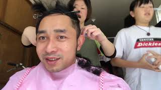 Kuli potong rambut dijepang gratis
