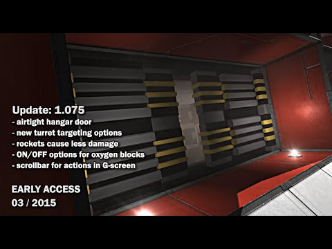 Space Engineers Update 01 075 Airtight Hangar Door New