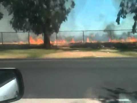 Merced Fire near Wal-Mart 7/03/12